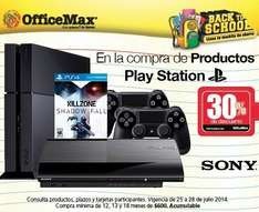 OfficeMax: 30% de descuento en productos PlayStation (¿PS4 $5,249?)