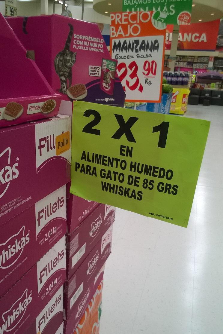 Comercial Mexicana: Alimento para Gato Whiskas Sobre 85 gr al 2x1