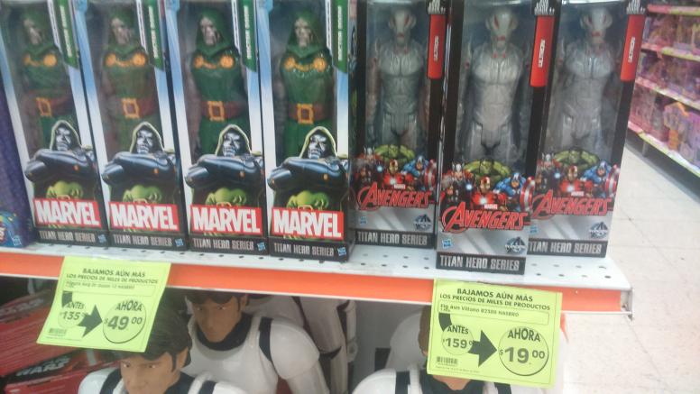 Comercial Mexicana: muñeco Ultron Marvel de $159 a $19