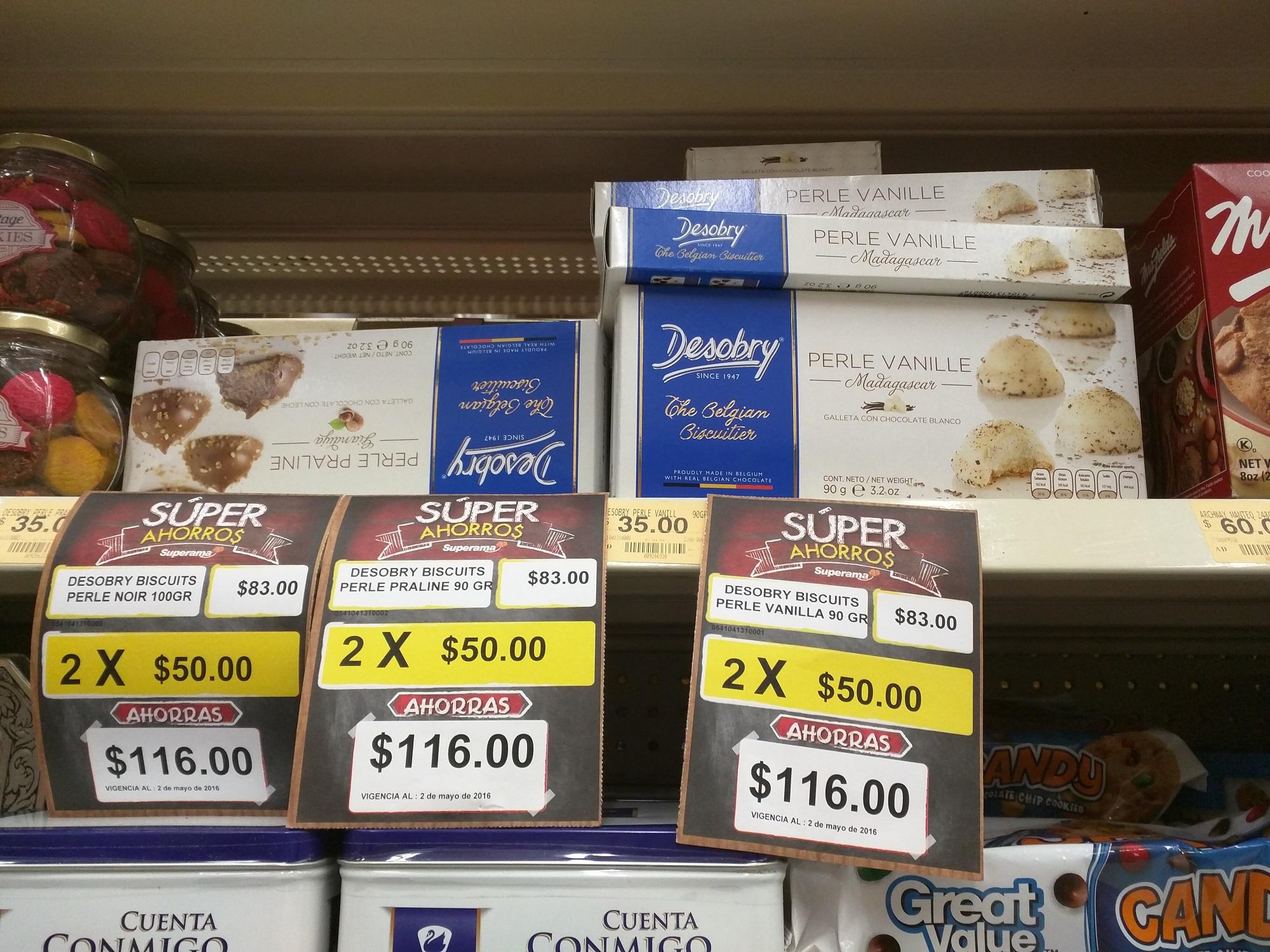 Superama: Va haber galletas Belgas dos cajas en $50 (normalmente pagarían $166 por las dos cajas)