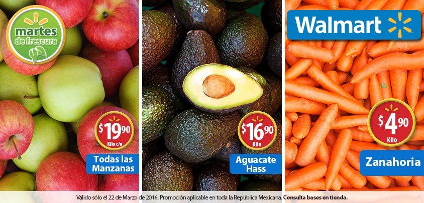 Martes de frescura en Walmart marzo 22: todas las manzanas a $19.90 el kilo y más