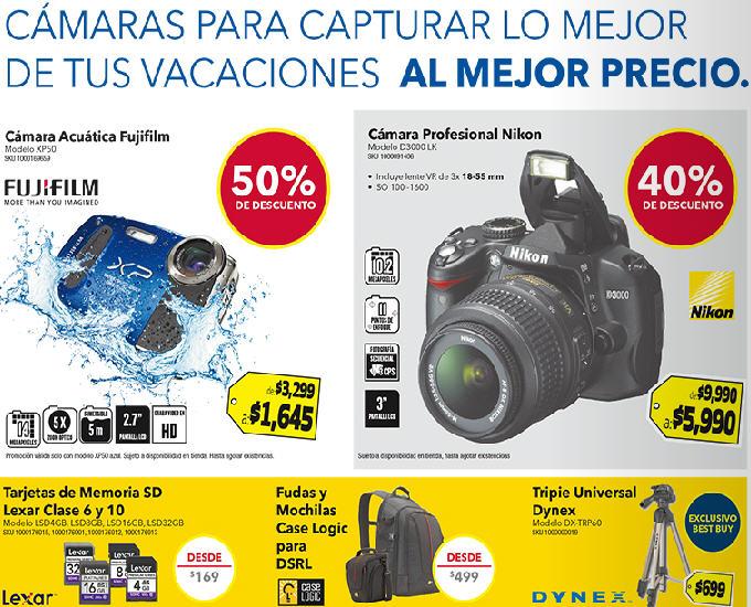 """Best Buy: cámara profesional Nikon $5,990, pantalla LCD 46"""" a $7,990 y más"""