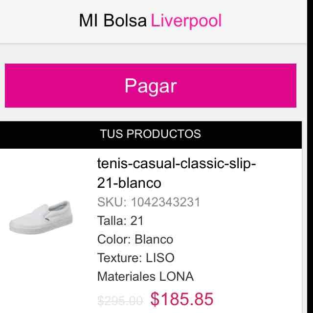 Liverpool en línea: tennis Vans niñ@ a $207 o $187 con cupón