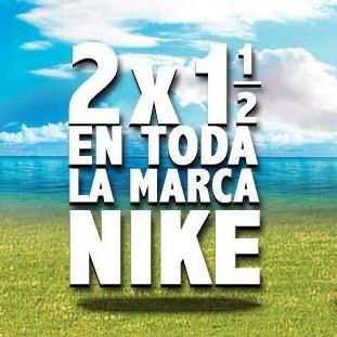 Dportenis: 2 x 1 y medio en la marca Nike