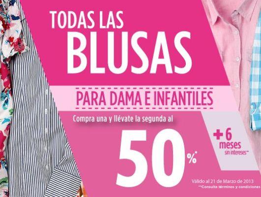Suburbia: 2 x 1 y medio en todas las blusas para dama e infantiles