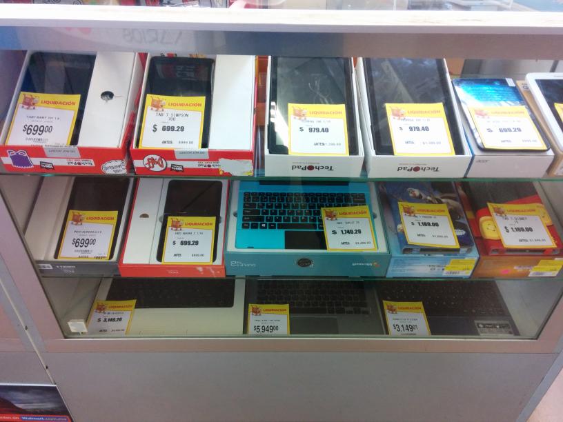 Walmart la Cima: liquidación de tablets y laptops