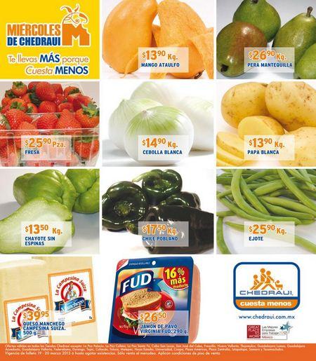 Miércoles de frutas y verduras Chedraui marzo 20: plátano $3.90 y más