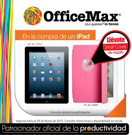 Smart cover gratis comprando o $1,000 en monedero comprando iPad
