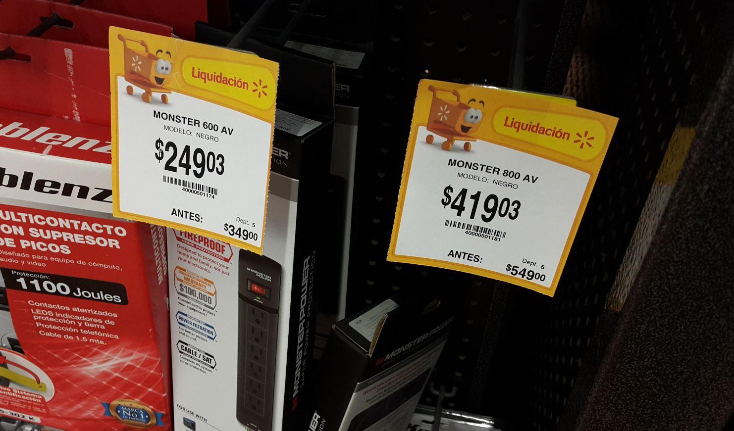 Walmart Merida (city Center): multi contacto con proteccion de picos de buena calidad a 349.02