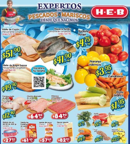 Frutas y verduras HEB marzo 19: tomate $4.75, naranja $3.95 y más