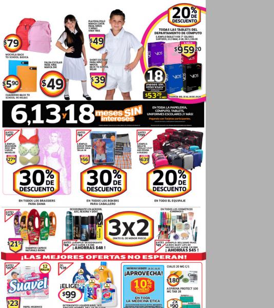 Soriana: 3x2 en cosméticos, 30% menos en brassieres, boxers y más