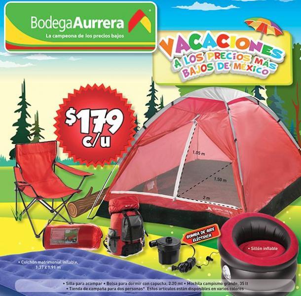 Folleto Bodega Aurrerá: ofertas en artículos para acampar, trajes de baño y +