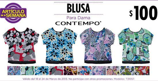 Artículo de la semana Suburbia: blusa para dama a $100