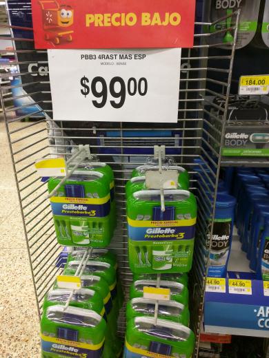 Walmart: Gillette Pack Espuma + 4 Rastrillos Prestobarba