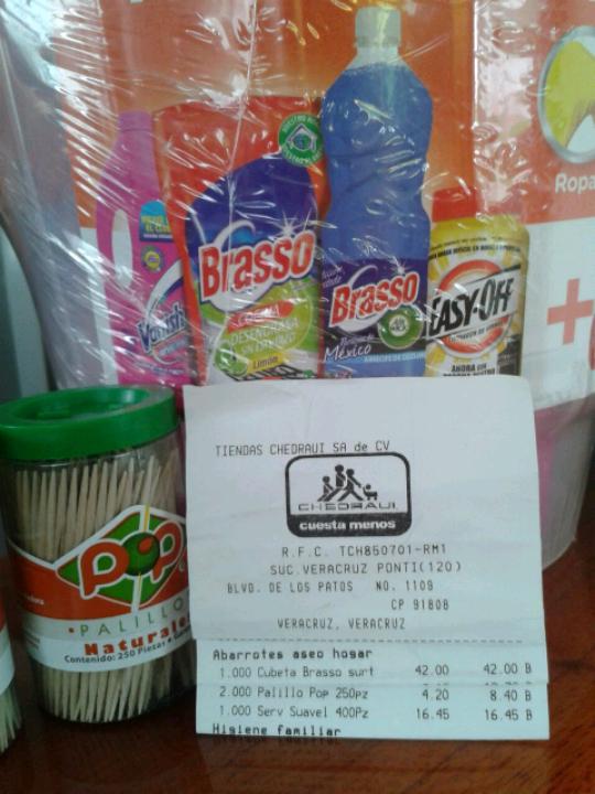 Chedraui Veracruz Suc. Ponti: paquete Brasso a $42