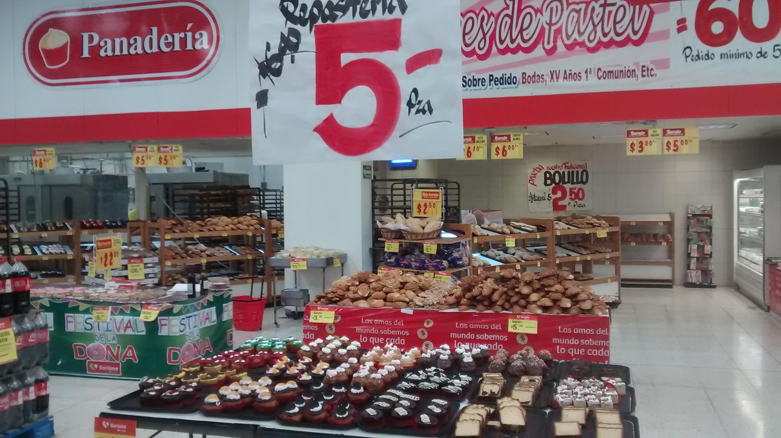 Soriana: Repostería en $5 y caja de donas 6 piezas en $22