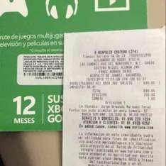 Soriana: 12 meses Xbox Live Gold a $700