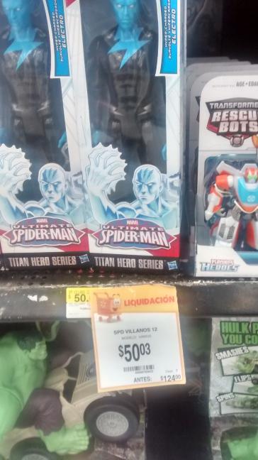 Walmart Muñeco Electro de Spider-Man Ultimate a $50.03