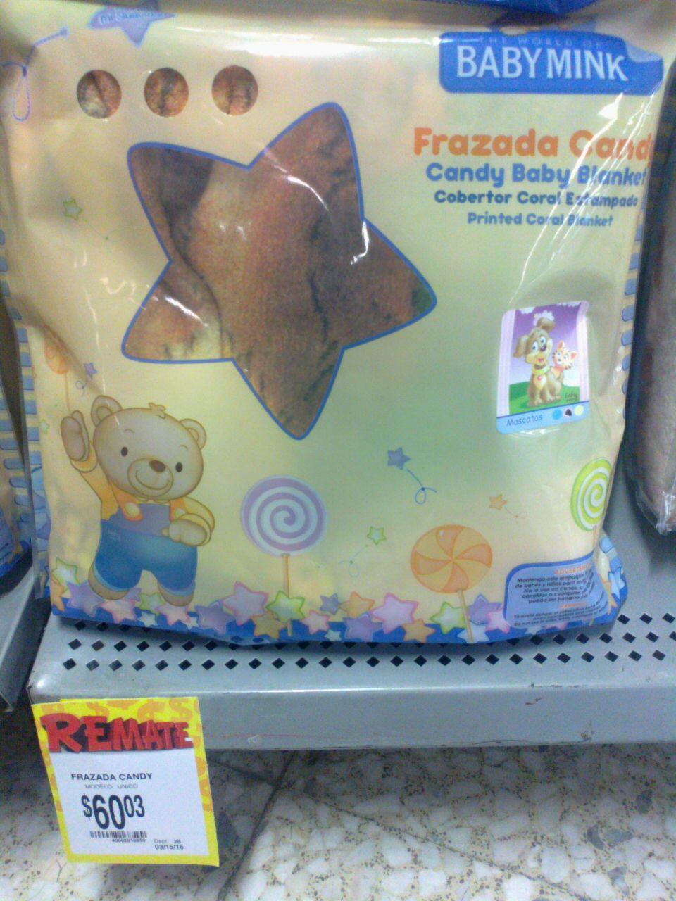 Bodega Aurrerá: Frazada Baby Mink a $60.03