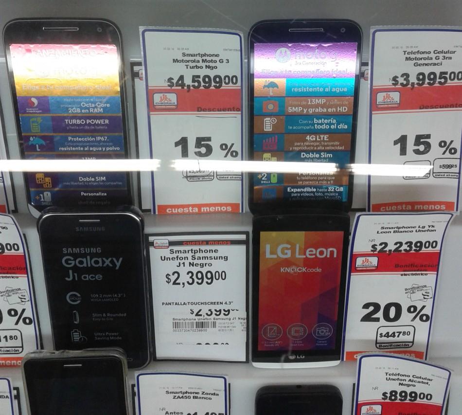 Chedraui: Motorola Moto G Turbo Edition a $3909 y G 3ra en $3396