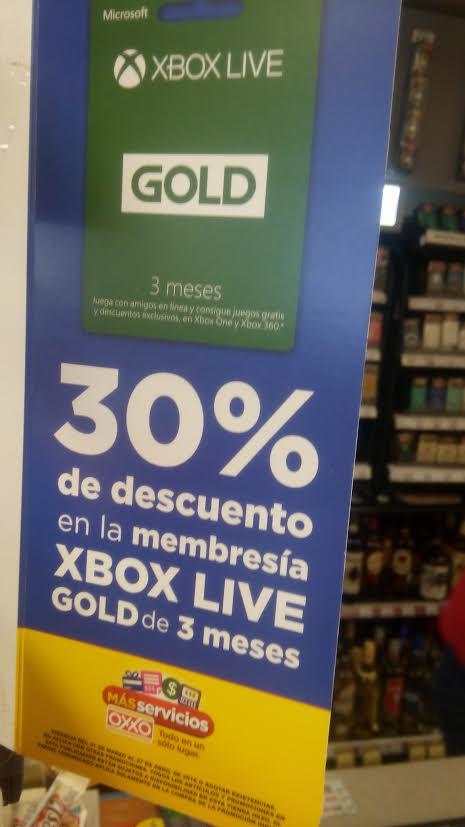 Oxxo: 30% de descuento en membresías de Xbox Live de 3 meses