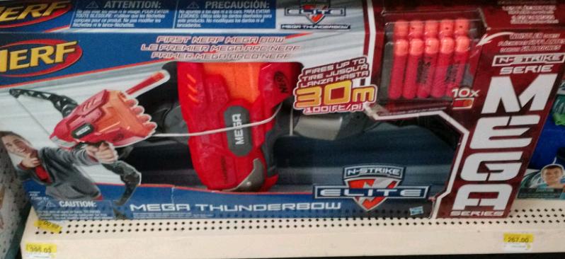 Bodega Aurrerá: Nerf Mega Thunderbow a $395.03