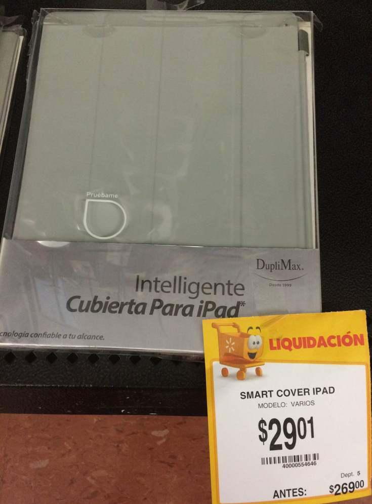 Walmart Villa Juárez: Smart Cover para iPad 2 y 3 Duplimax Rebajada de $269 a $29. 01