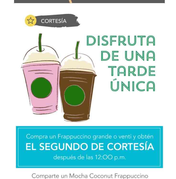 Starbucks: Frapuccino grande o venti al 2x1 después del medio día para miembros Rewards