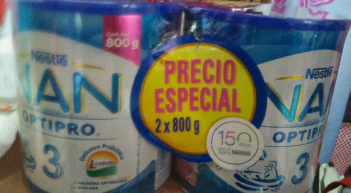 Chedraui Ejército Mexicano, Cd. Madero Tamaulipa: 2 latas de fórmula NAN 3 de 800gr a $199