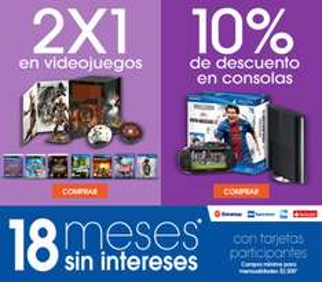 Sony Store: 2x1 en videojuegos, 10% en consola y 18 MSI