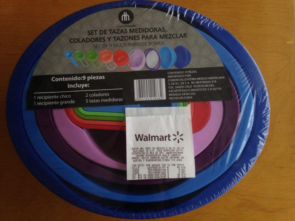 Walmart: Juego de tazones y cucharas medidoras a $35.01
