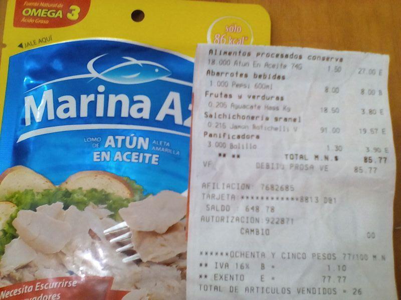Chedraui: atún marina azul a $1.5