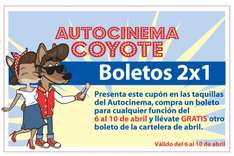 Autocinema Coyote: boletos 2x1