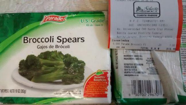 Chedraui: Gajos de brócoli congelados (283gr) a $0.20