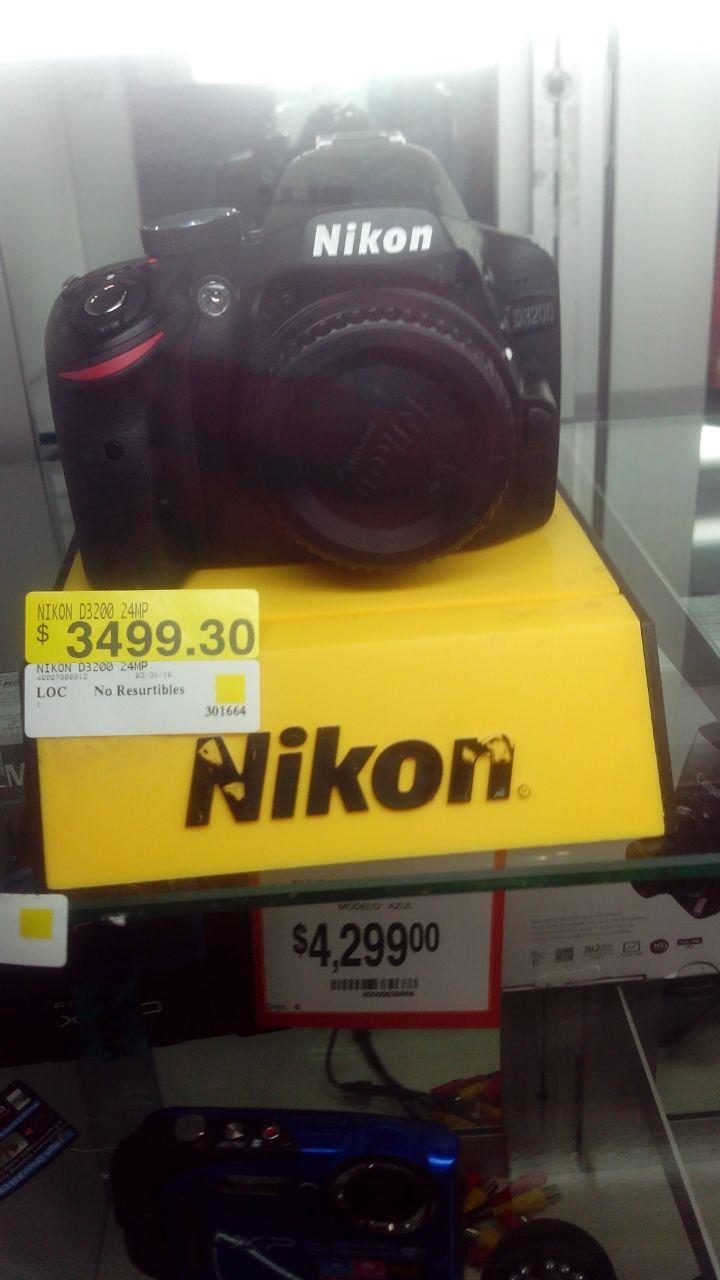 Walmart Plaza Jardín: Nikon D3200 a $3,499