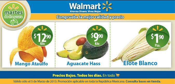 Martes de frescura Walmart marzo 5: aguacate $9.90, mango $12.90 y más