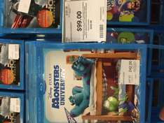 City Club: Película Monster University en Blu-Ray a $99