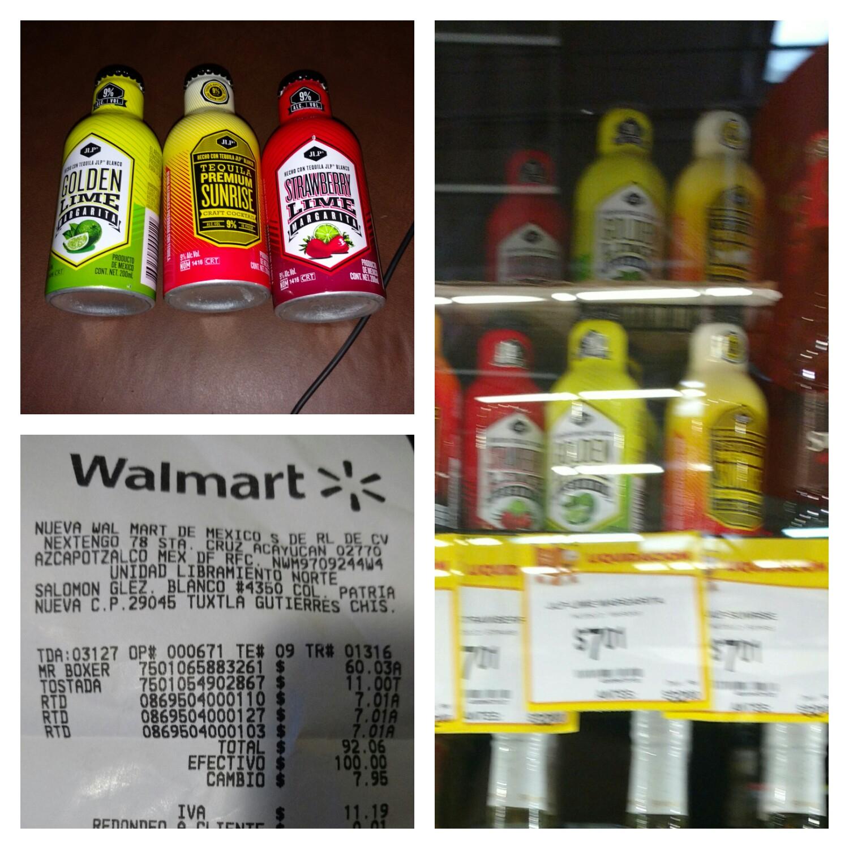 Walmart Tuxtla: Margaritas JLP varios sabores 200ml $7.01