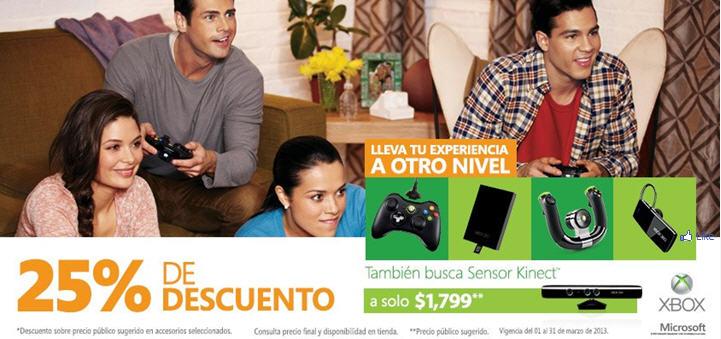 $1,000 de descuento en Xbox 360 con Kinect, descuento en accesorios y más