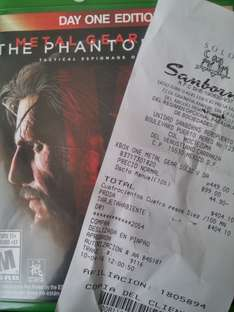 Sanborns: Metal Gear Solid 5 para Xbox One a $404