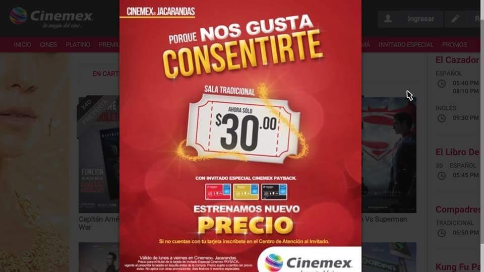 Cinemex: Boleto a precio especial con Invitado Especial