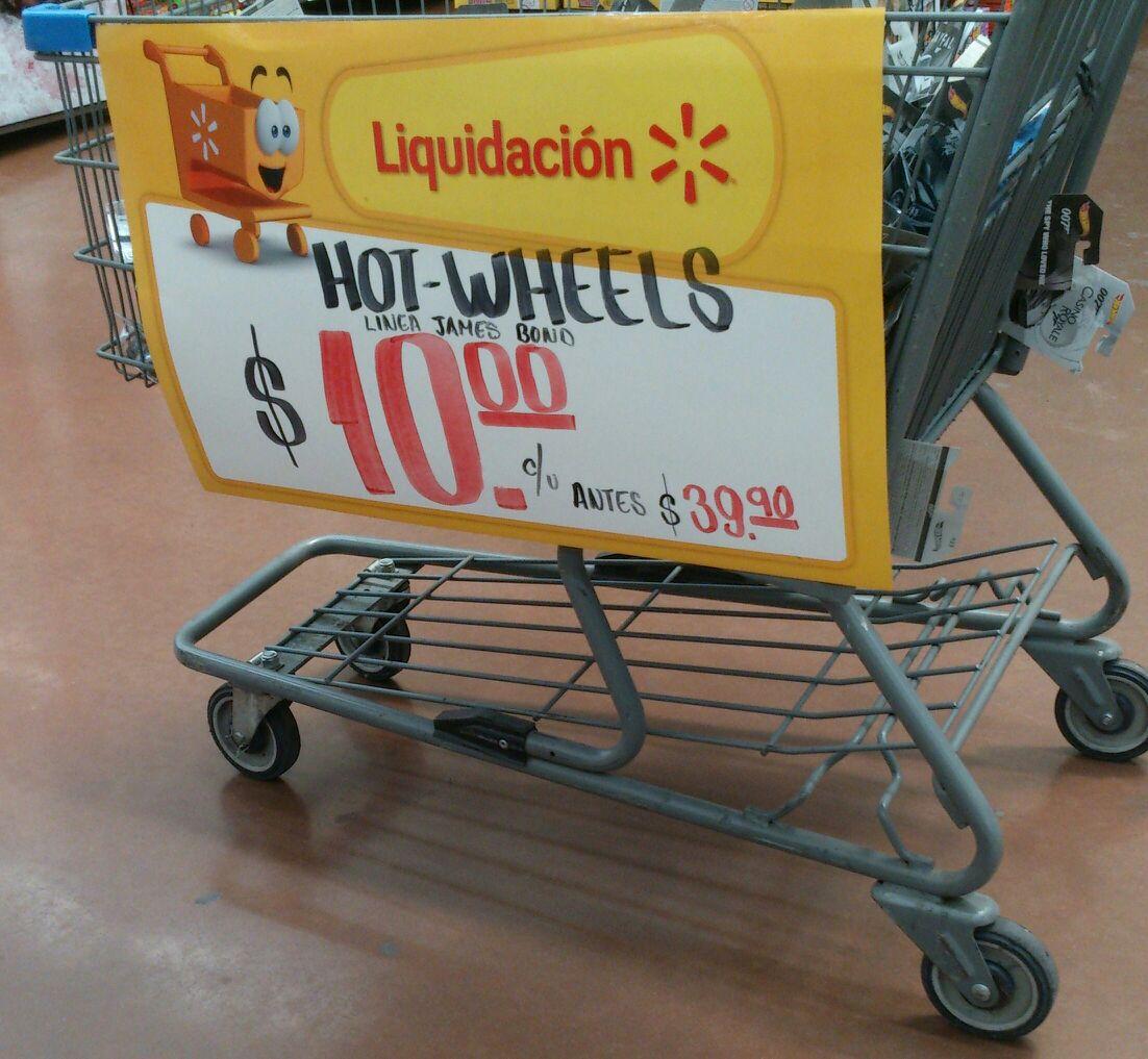 Walmart  Cuautla: coches de colección Hot Wheels 007 a $10