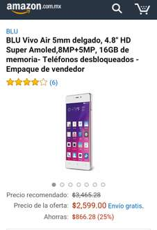 Amazon MX: Blue Vivo Air 5 de $3,465 a $2,209.15 con cupón Saldazo
