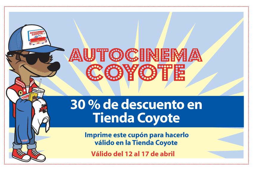 Autocinema Coyote: 30% en tienda de souvenirs