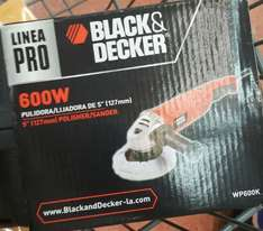 Walmart Merida, Montejo: Pulidora Black & Decker Linea Pro 600W en segunda rebaja, ahora 450.02 pesitos!!