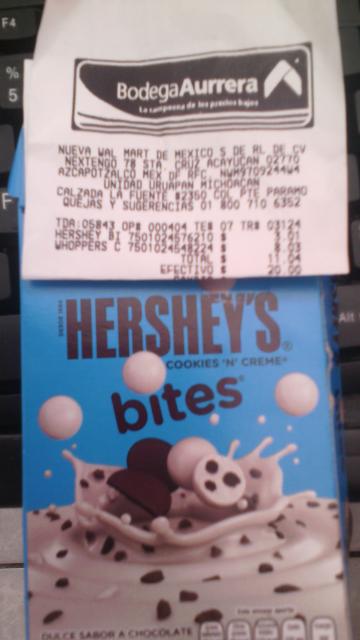 Bodega Aurrerá La Fuente Uruapan: Hershey's Bites Cookies n' Cream a $3.01 y más