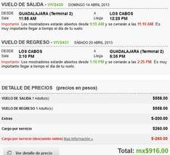 Vivaaerobus: vuelos a $458 para abril y mayo incluyendo Cancún y Los Cabos