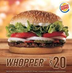 Burger King: Whopper a $20
