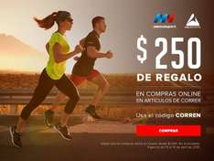 Innovasport: Cupón de $250 al comprar $1000 en productos para correr