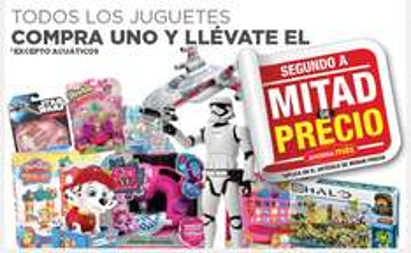 Heb en línea: Compra un juguete y el segundo es a mitad de precio